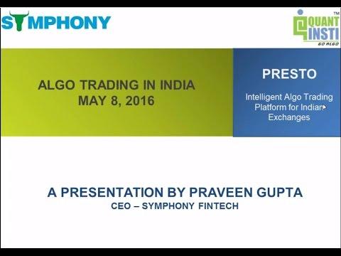 QuantInsti  - Algorithmic Trading in India -  8May2016