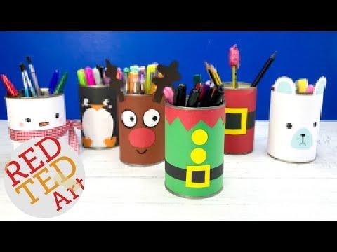 DIY Elf Pencil Pot - Christmas Crafts Kids Elf Candy Holder