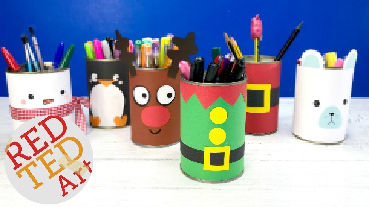 Diy Elf Pencil Pot Christmas Crafts Kids Elf Candy Holder Youtube