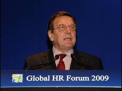 GHRF 2009: Gerhard Schroeder, C. Fred Bergsten, Il SaKong