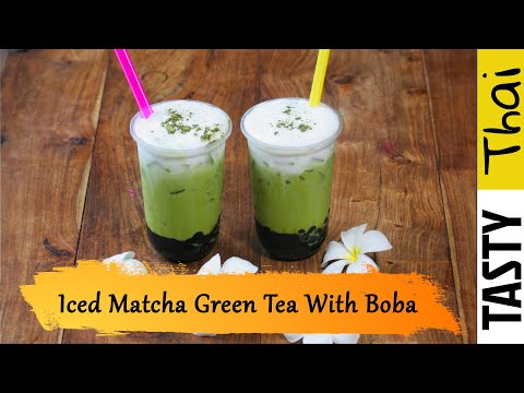 thai-matcha-green-tea-latte-with-brown-sugar-boba-bubble-recipe