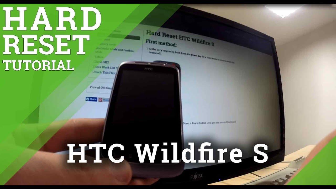 Resetting Videos - HTC Wildfire S - HardReset info
