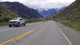 Crowsnest Highway - Driving between OSOYOOS town & KEREMEOS village - BC Canada