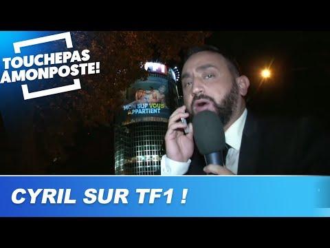 Cyril Hanouna se projette sur la tour TF1