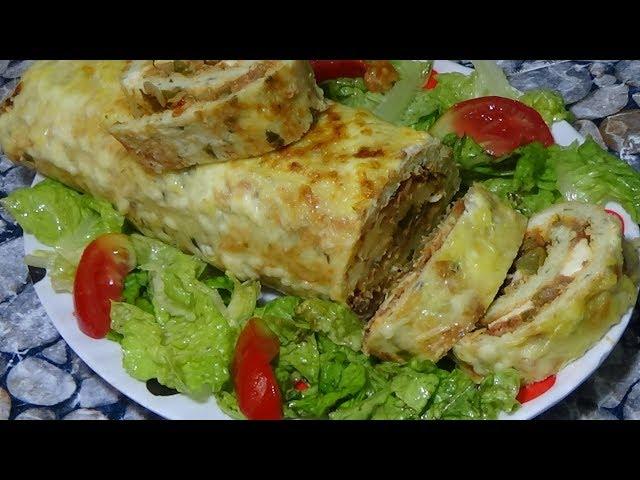 أكلات رمضانية خفيفة رولي البطاطا المحشي قدميه كطبق رئيسي او كمقبلة  _ من قناة_Aya Acil TV