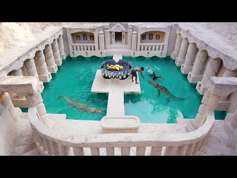 Build The Greatness Kings Underground Temple & Swimming Pool And Feed the Crocodile