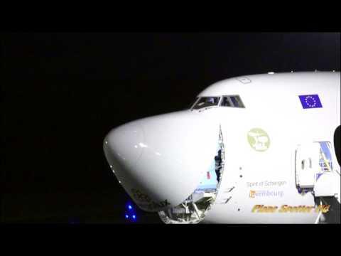 CARGOLUX BOEING 747-8F, LX-VCX, 4k- First landing at Afonso Pena International Airport.