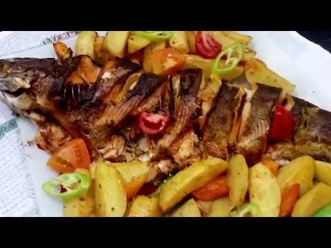 Форель запеченная в духовке с овощами - Ани Кухня!