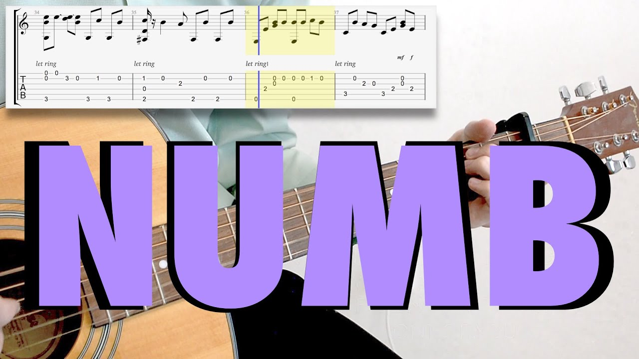 Linkin Park Numb Fingerstyle Acoustic Cover Tab Youtube