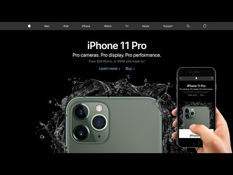 Responsive Apple Website IPhone 11 Pro Redesign | HTML And CSS Tutorial
