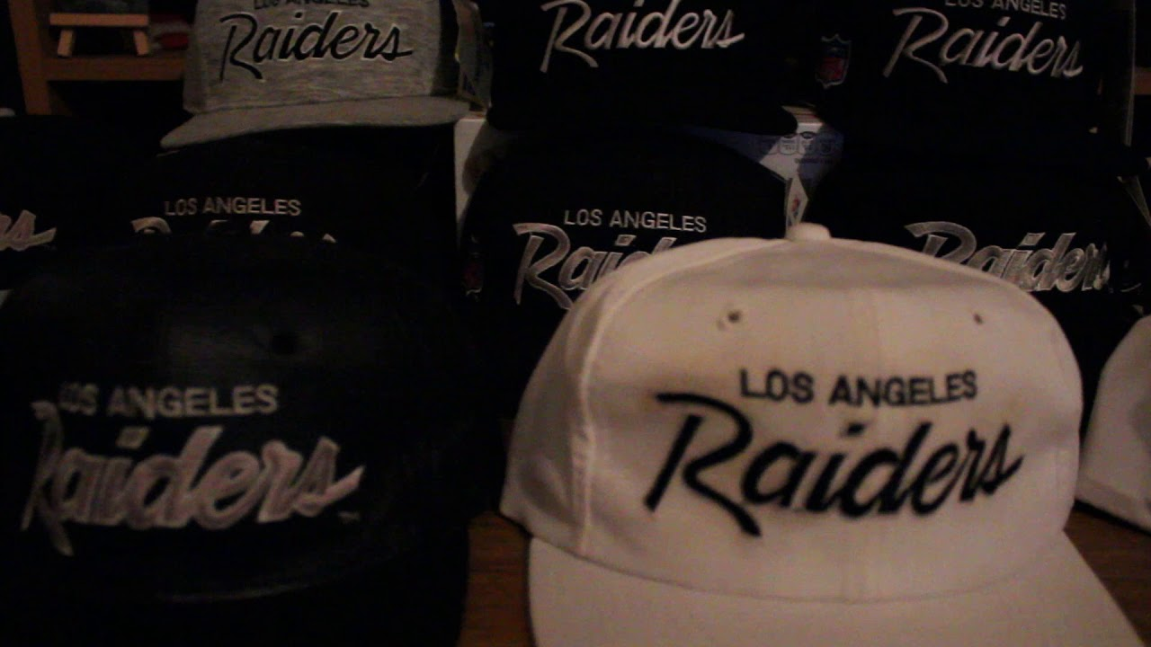 27552117e32 VINTAGE LOS ANGELES OAKLAND RAIDERS SCRIPT SNAPBACKS - YouTube