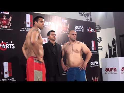 SFL MMA in India : Jaideep Singh vs Alireza Tavakoli [ posedown ] SFL 19