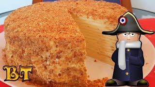 """Торт """"НАПОЛЕОН"""". Классический рецепт. Получился с первого раза! Тает во рту!"""