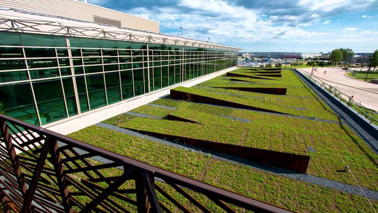 Time Lapse Slideshow New Green Roof At Msp Airport S