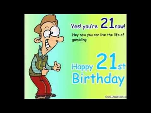 Happy birthday ecards for 21st Birthday - YouTube