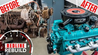 Download Buick Nailhead V-8 engine rebuild time-lapse: from rusty to roaring | Redline Rebuilds - S3E3 Mp3 and Videos