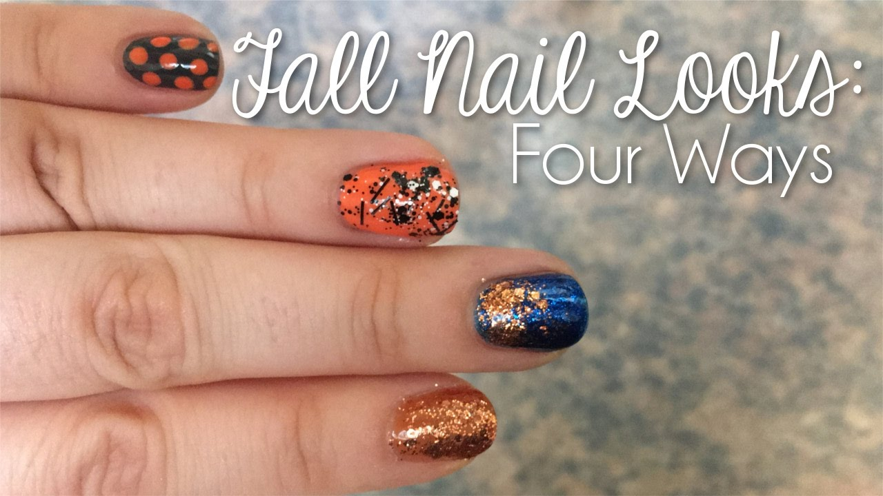 Fall Nail Looks: Four Ways | Simply Deb | - YouTube