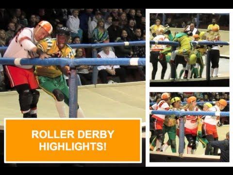 Roller Derby Highlights - SF Bay Bombers v. LA Thunderbirds @ Kezar Pavilion