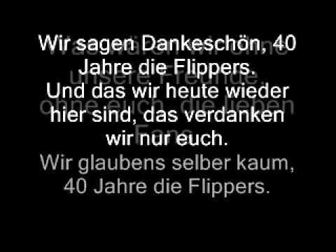 Chords For Die Flippers Wir Sagen Danke Schön 40 Jahre