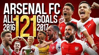 Arsenal fc - all 121 goals - 2016/2017  - english commentary