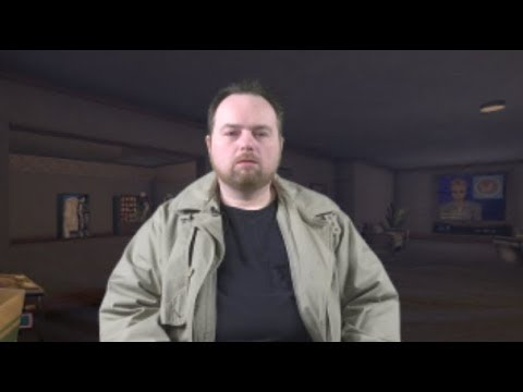 Rich Evans auditions for the role of JC Denton