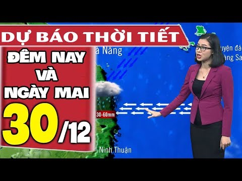 Dự báo thời tiết hôm nay và ngày mai 30/12 | Rét Đậm Rét Hại | Dự báo thời tiết đêm nay mới nhất