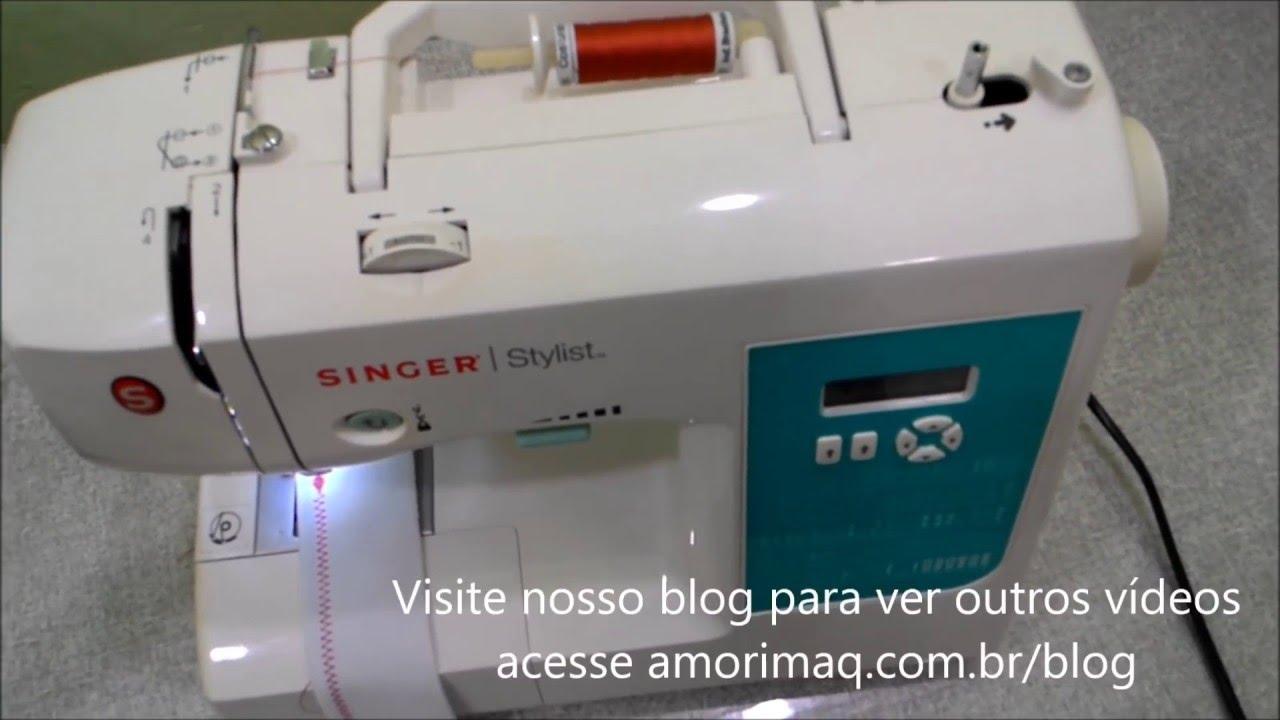 9a46ad1ec Aula de manuseio máquina de costura Singer stylist 7258 - YouTube
