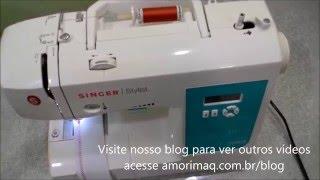 Aula de manuseio máquina de costura Singer stylist 7258