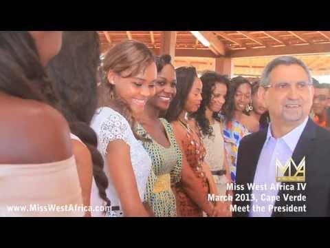 Miss West Africa Queens Meet Cape Verde President