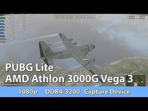 AMD Athlon 3000G Review - PUBG Lite - iGPU Benchmark Test
