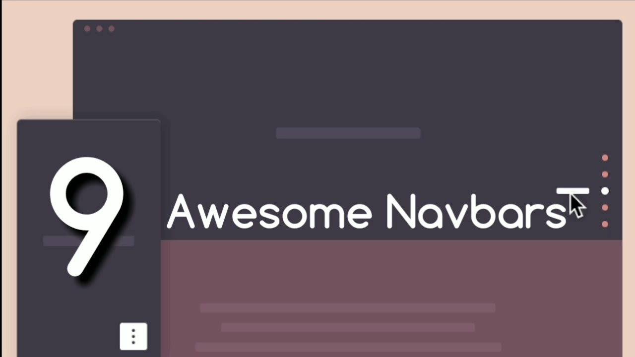 Navbars : 9 Awesome Navbars You must try! | HTML CSS JS