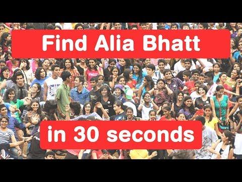 Find Alia Bhatt in 30 seconds - Shaandaar Challenge