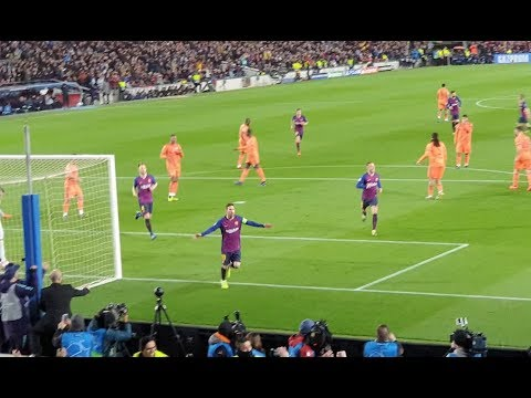 Messi Panenka goal vs Lyon in 5:1 Champions League win from crowd