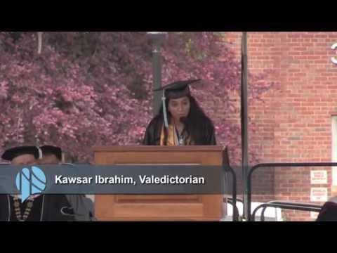 Sixty-Sixth Commencement, Kawsar Imbrahim, Valedictorian