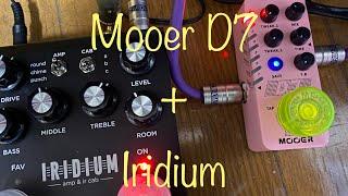 [Mooer D7] Tiny&Funny Delay with Strymon Iridium (no talking)