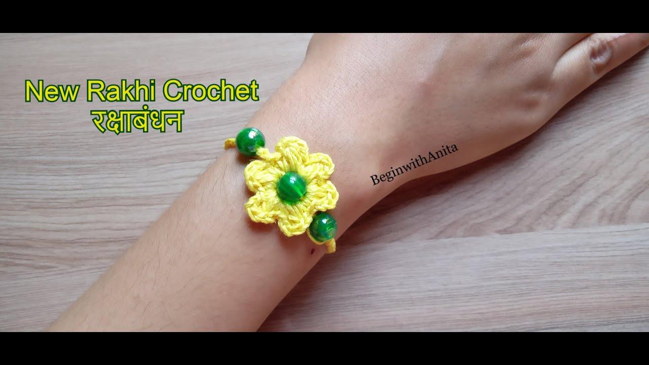 tutorial 130- Rakhi Crocheting / इस रक्षाबंधन भाई के लिए अपने हाथो से राखी बनाये