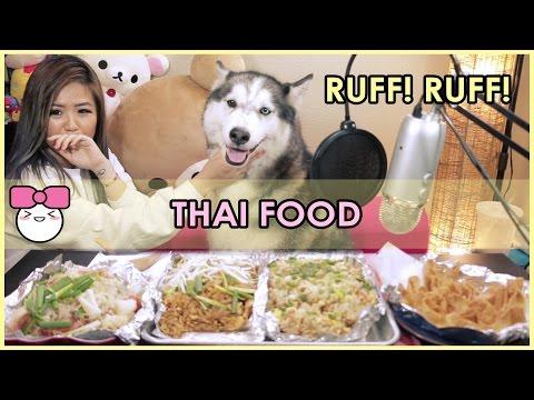 THAI FOOD!! (Chicken Pad Thai, Crab Fried Rice, Shrimp Glass Noodles) MUKBANG [먹방]