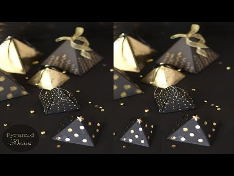 DIY/Handcraft/Paper pyramid Gift Box for Christmas/Paper  Craft/Handwork#148