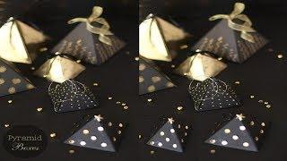 DIY/Handcraft/Paper pyramid Gift Box for Christmas/Paper  Craft/Handwork#148