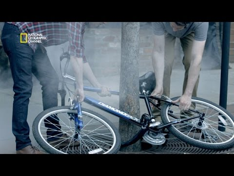 Un vélo pris au piège