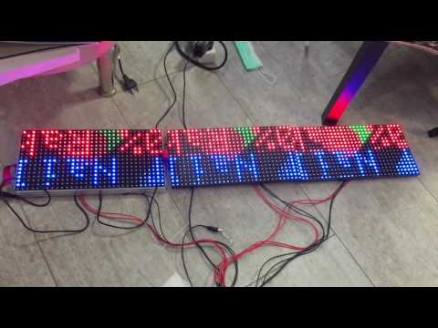 3 RGB full color LED P10 whit Arduino Uno - YouTube