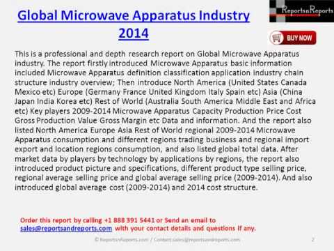 Market Research Report On Global Microwave Apparatus Industry 2014