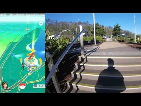 Pokemon Go gameplay by Magic Monk using GoPro at Colleges Crossing, Queensland, Australia