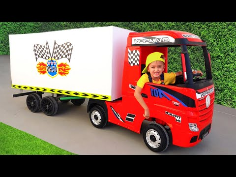 Nikita ride on toy truck play delivery service