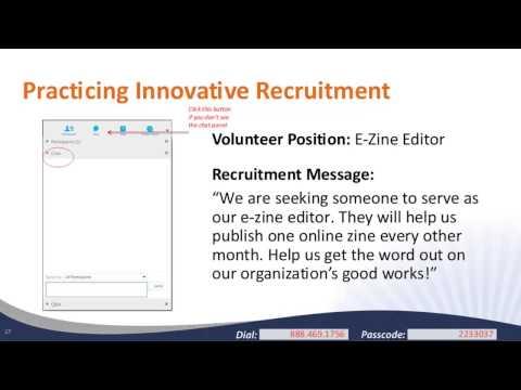 Innovative Volunteer Recruitment