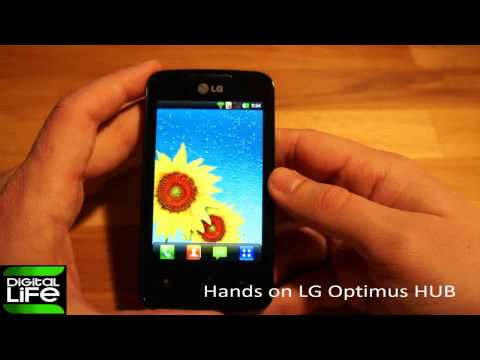 Hands on LG Optimus HUB (GREEK)