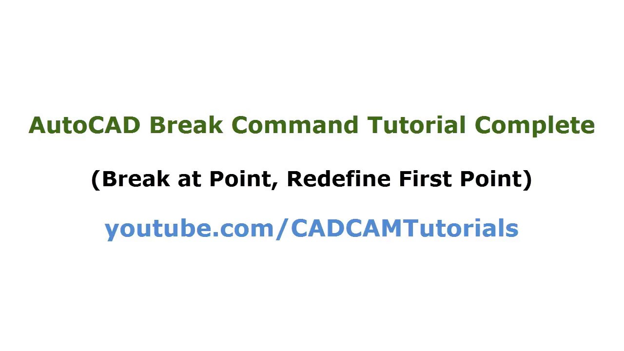 AutoCAD Break & Break At Point Command Tutorial Complete | AutoCAD Split  Line into Segments