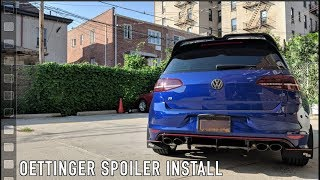 Oettinger Style Spoiler from AliExpress Install for the MK7 Golf GTI R