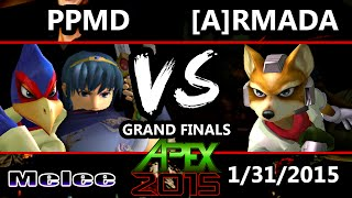 Apex 2015 - Armada (Fox) Vs. PPMD (Marth, Falco) - Grand Finals - SSBM