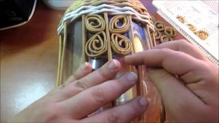 Корзинка с бабочками из газетных трубочек. урок 4. Квиллинг из газетных трубочек - часть2.